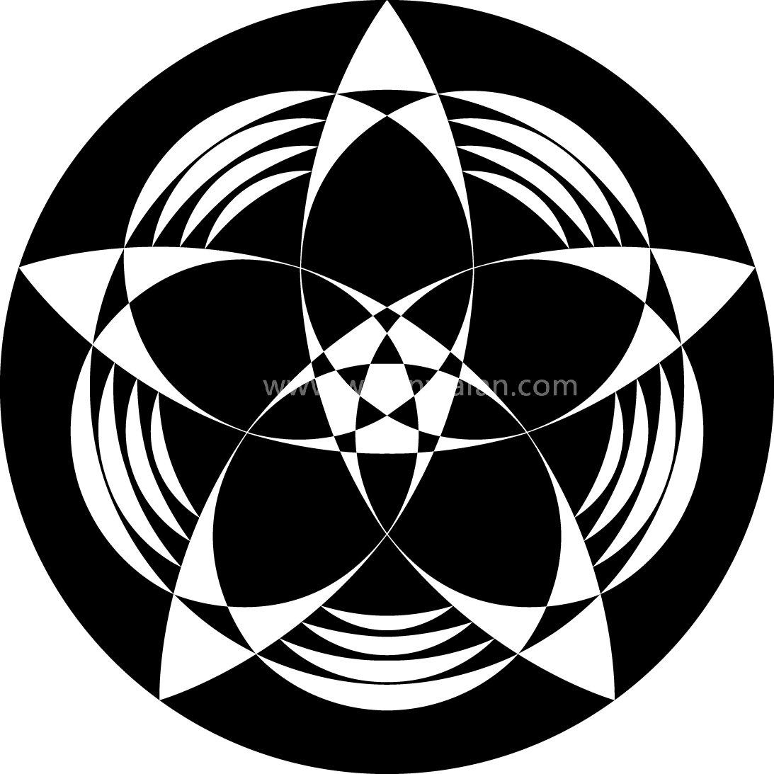 圆形创意设计图案矢量图展示