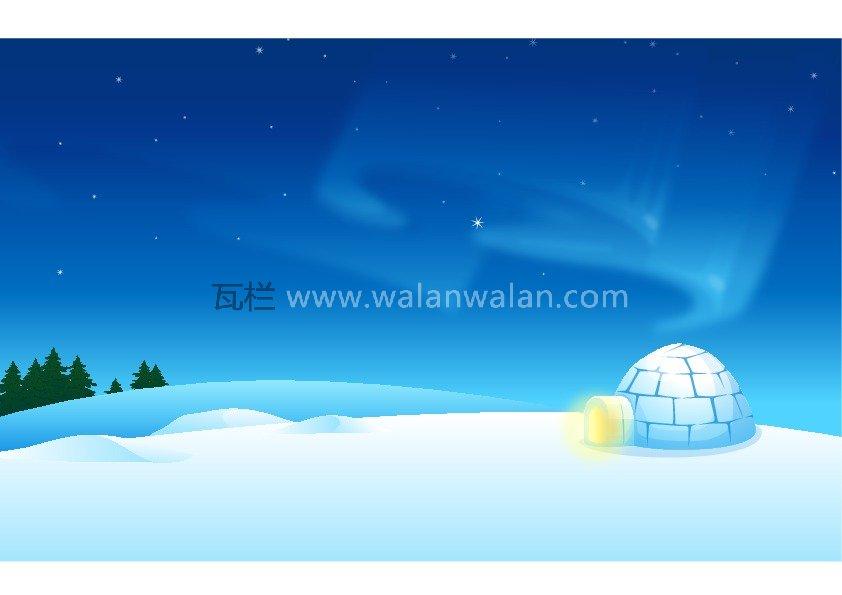 南极冰屋 矢量图 .ai 高清源文件 - 矢量 - 25614