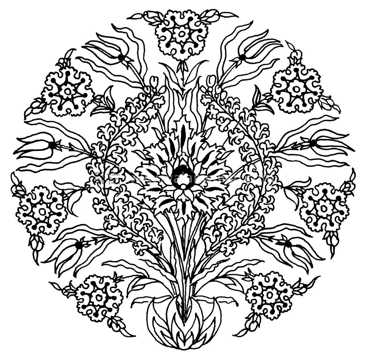 黑白花  矢量图