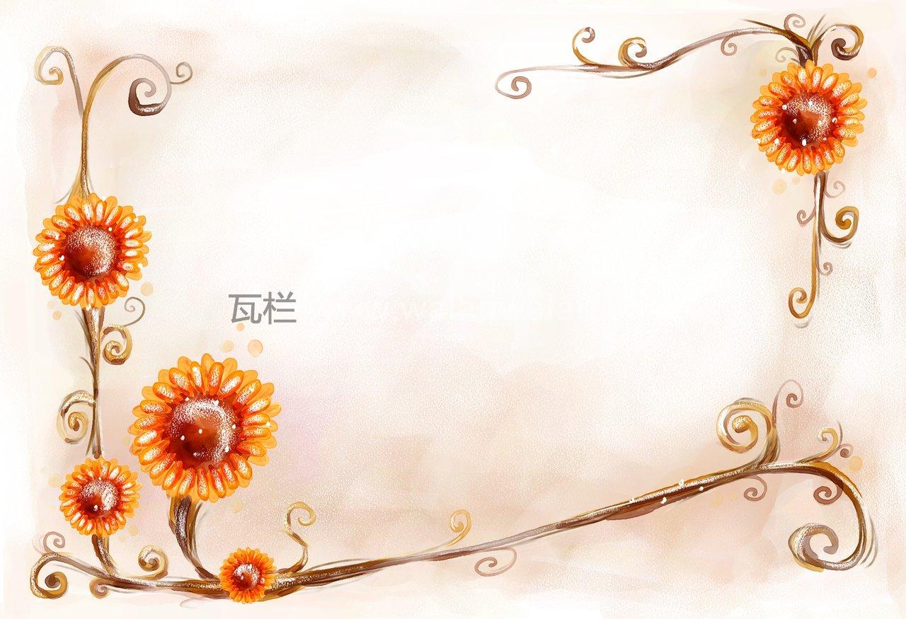 韩国矢量艺术设计27psd花纹边框