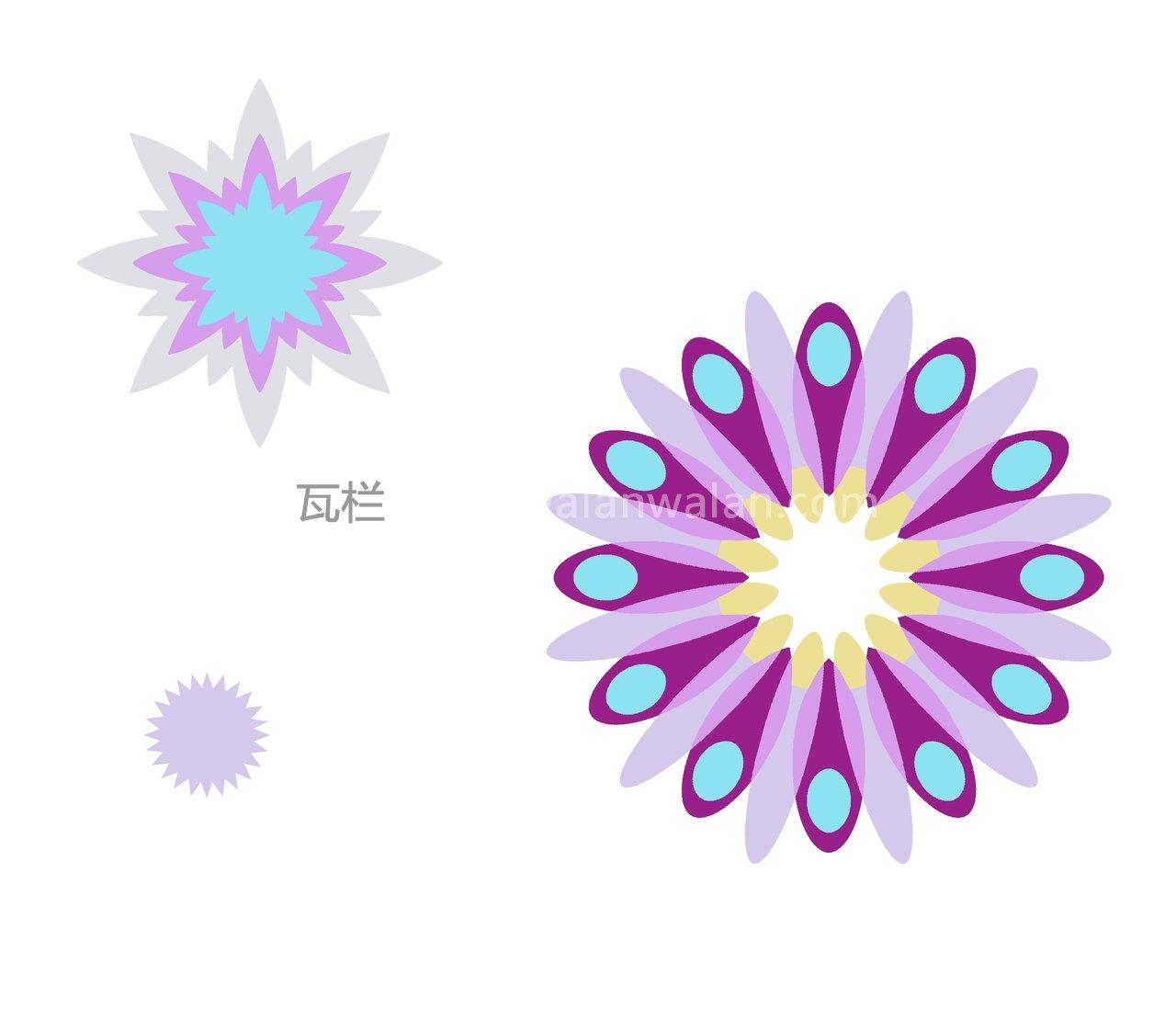 花变形设计图片